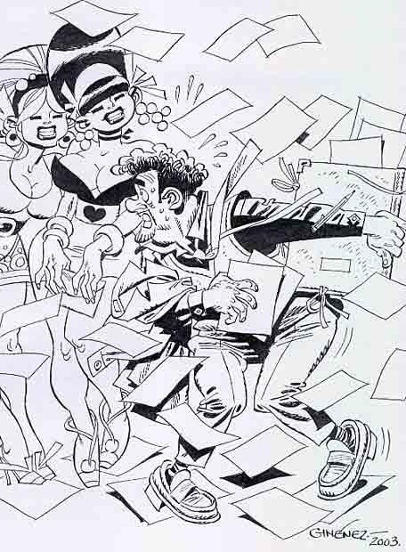 Dibujo de Carlos Gimenez
