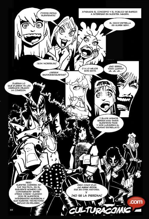 Interiores de Kiss en Rock Mortis. Arte Ruben Lara