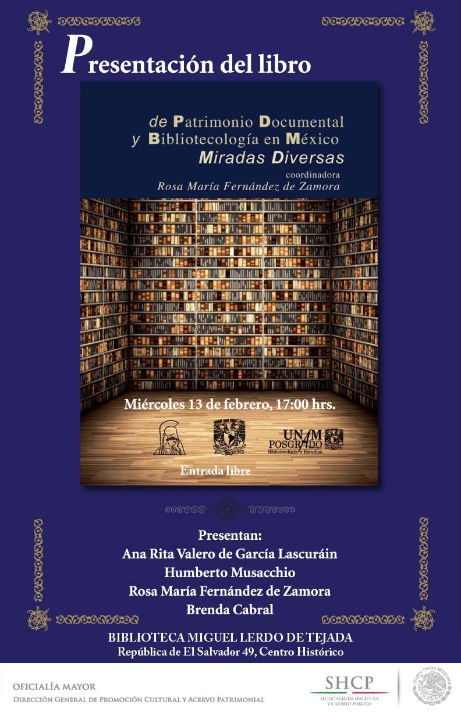 Patrimonio documental y bibliotecología en México