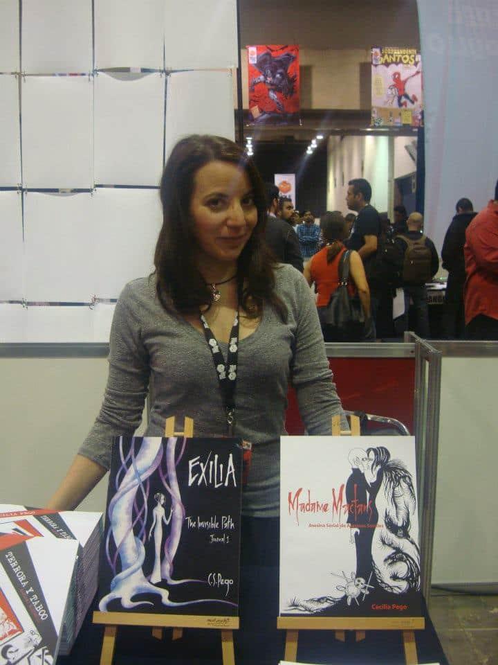 Cecilia Pego siempre sonriente./By Dark Arikel en La Mole Comic. Con Internacional