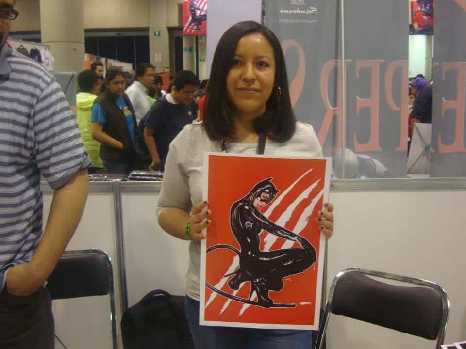 Ceci Quintero, pisando fuerte./By Dark Arikel en La Mole Comic. Con Internacional