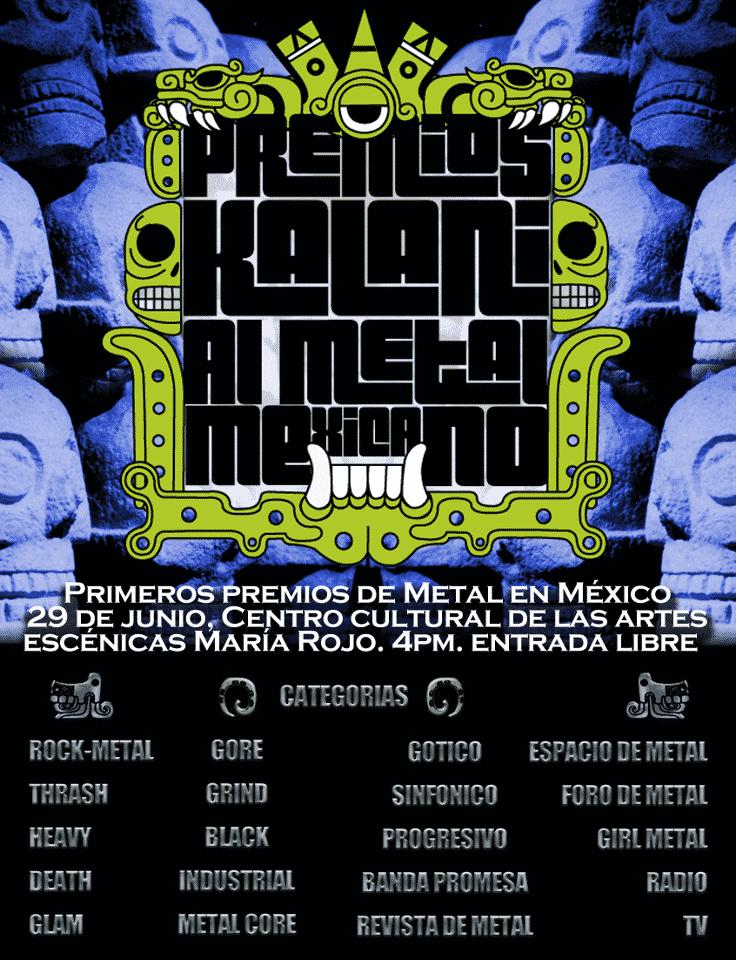 Premios Kalani al Metal Mexicano / Facebook.com/PremiosdeMetalKalani
