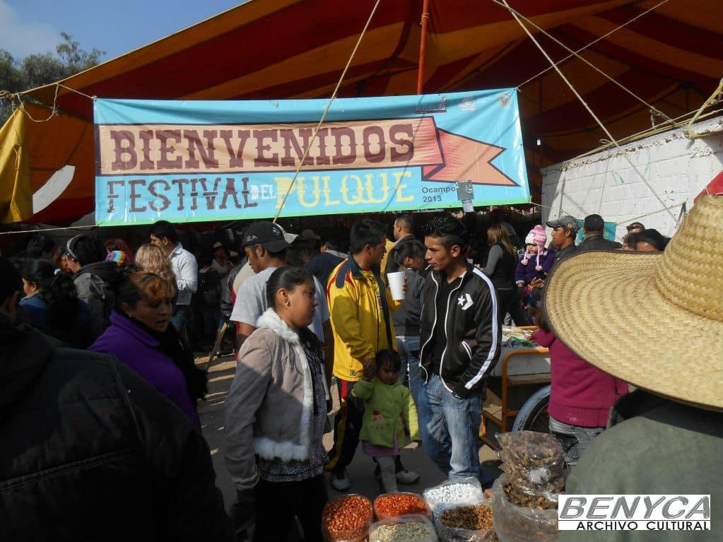 Entrada al Octavo Festival del Pulque de Ocampo.