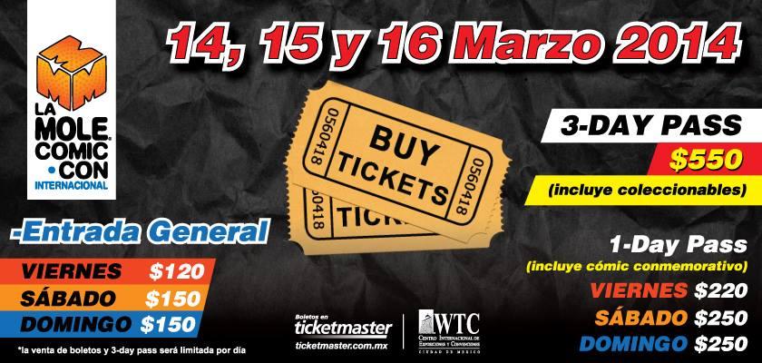 Boletos La Mole Marzo 2014