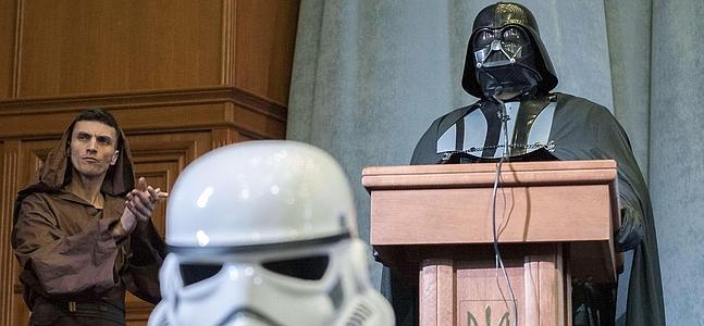 Darth Vader, candidato presidencial en las elecciones de Ucrania