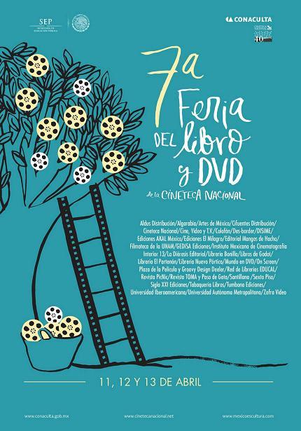 7ª Feria del Libro y DVD de la Cineteca Nacional, del 11 al 13 de Abril