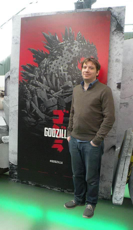 Gareth Edwards durante su visita a México para promocionar Godzilla