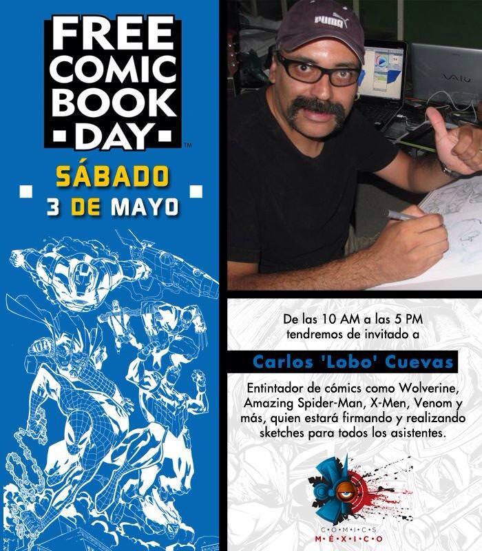 Lobo Cuevas en el Free Comic Day