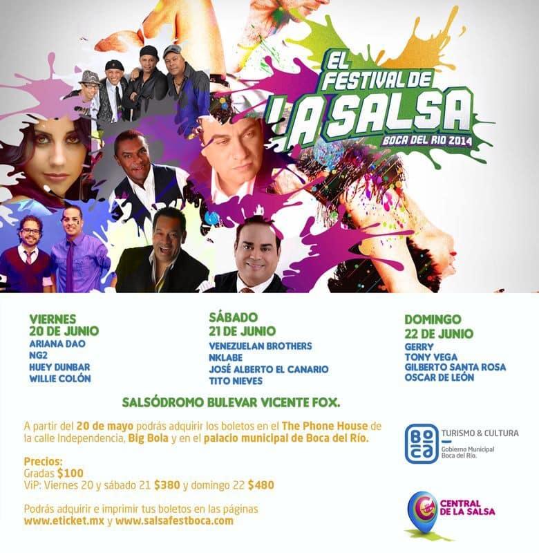 Festival de La Salsa en Boca del Río, Veracruz del 20 al 22 de junio