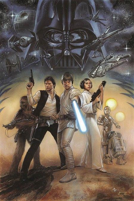 Portada de Adi Granov para la adaptación remasterizada de Star Wars: Episode IV A New Hope