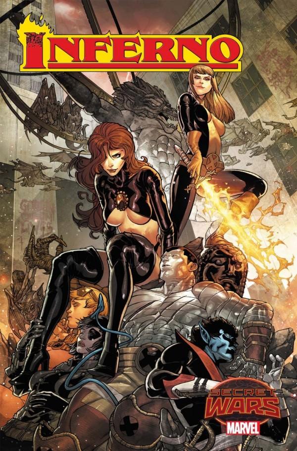Inferno # 1 portada de Javier Garron