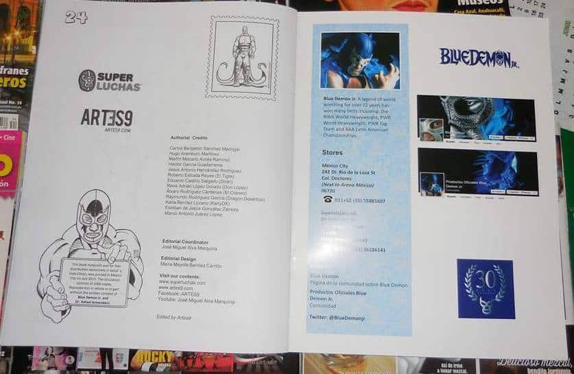 Blue Demon Jr Activity Book